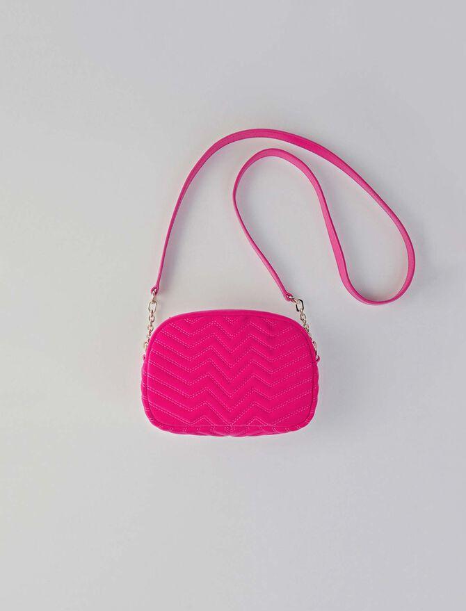 Quilted velvet shoulder bag - Sami bag - MAJE