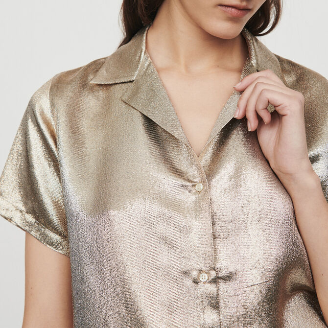 Pajama-style silk blend shirt - See all - MAJE