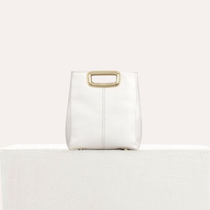 M Mini Skin bag in leather : M Skin color WHITE