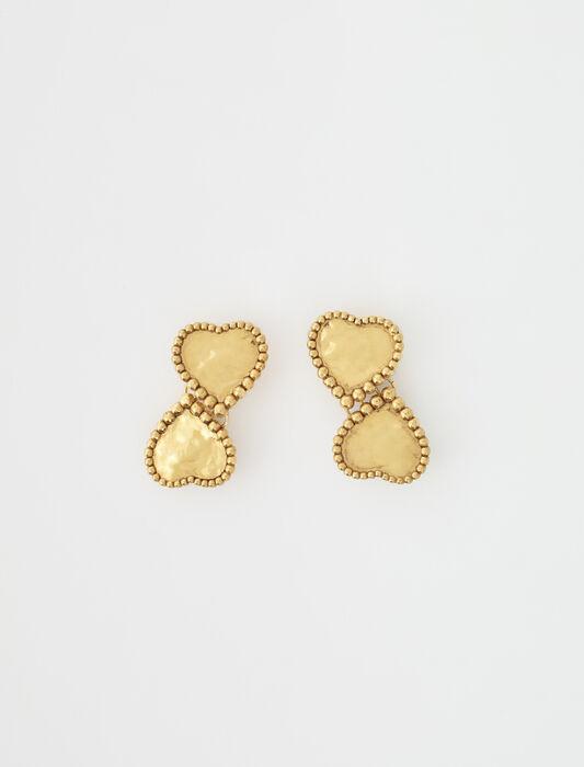 Boucles d'oreilles coeurs dorés : Accessoires_Bijoux couleur Laiton vieilli