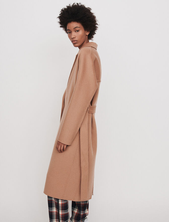 Belted double face coat -  - MAJE