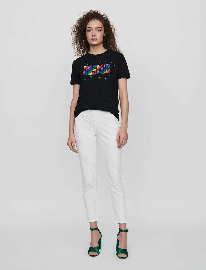 Embroidered tee shirt -  - MAJE