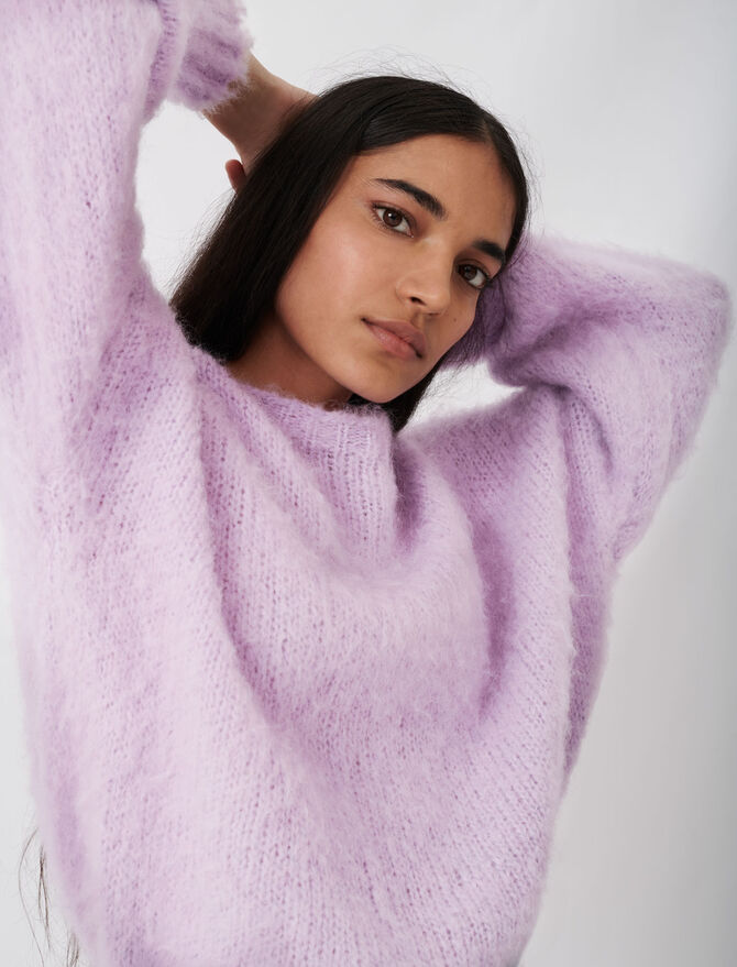 Fluffy knit oversize sweater - Pullovers & Cardigans - MAJE