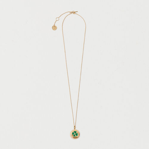 Four-leaf clover necklace : New in color GOLD