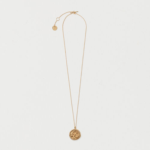 Number 8 medallion : Jewelry color GOLD