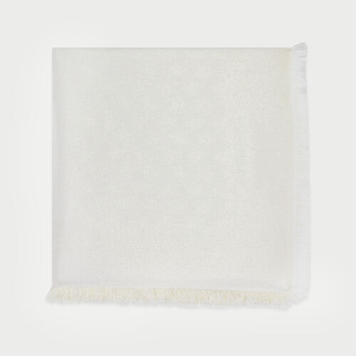 Shawl in M motif in Lurex : New in : Summer Collection color Off White