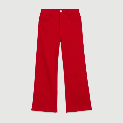 High-waisted wide leg jeans : New in : Summer Collection color Red