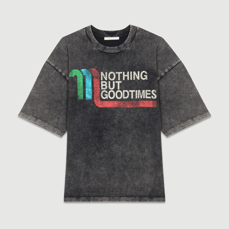 Flowing graphic t-shirt : T-Shirts color Grey