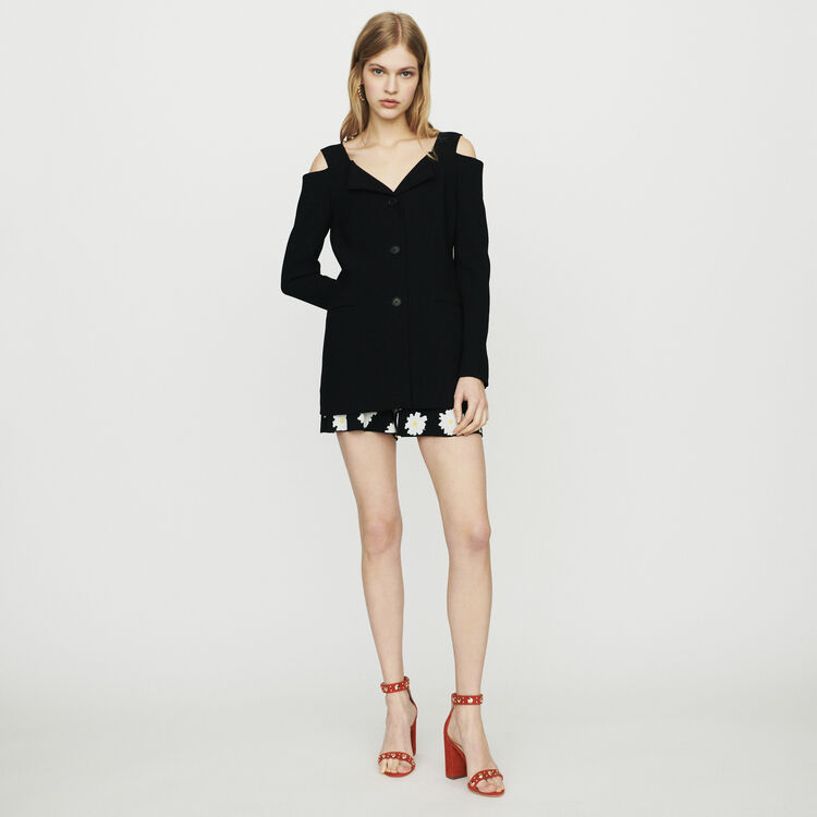 Cold-shoulder jacket : Blazers color Black 210