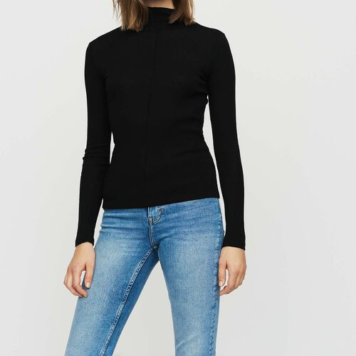 Tee shirt in wool jersey : T-Shirts color BLACK