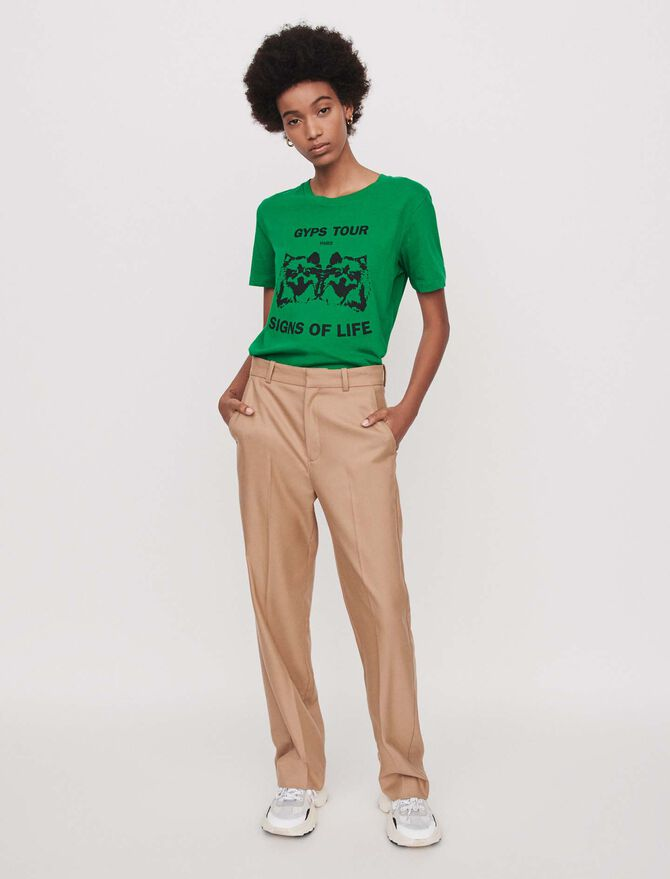 Wide straight-leg pants - Trousers & Jeans - MAJE