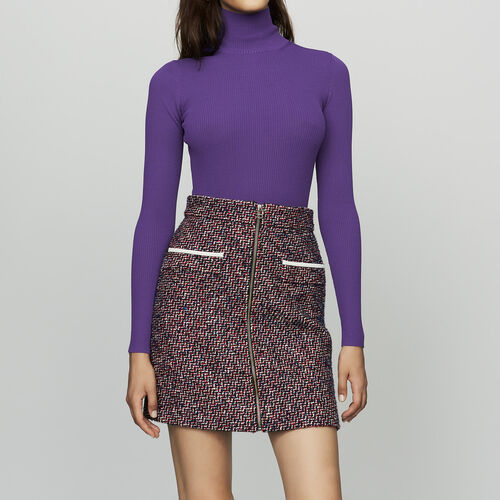 Short tweed skirt : Skirts & Shorts color Jacquard