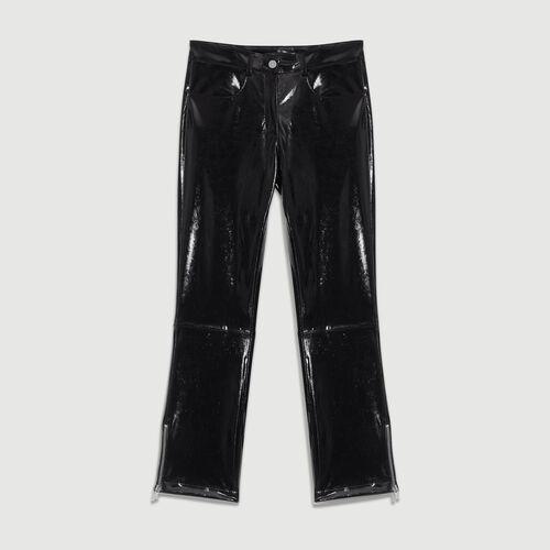 Cigarette Skai pants : Trousers color Black 210