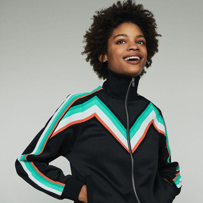 Zipped sport jacket : Coats & Jackets color Black 210