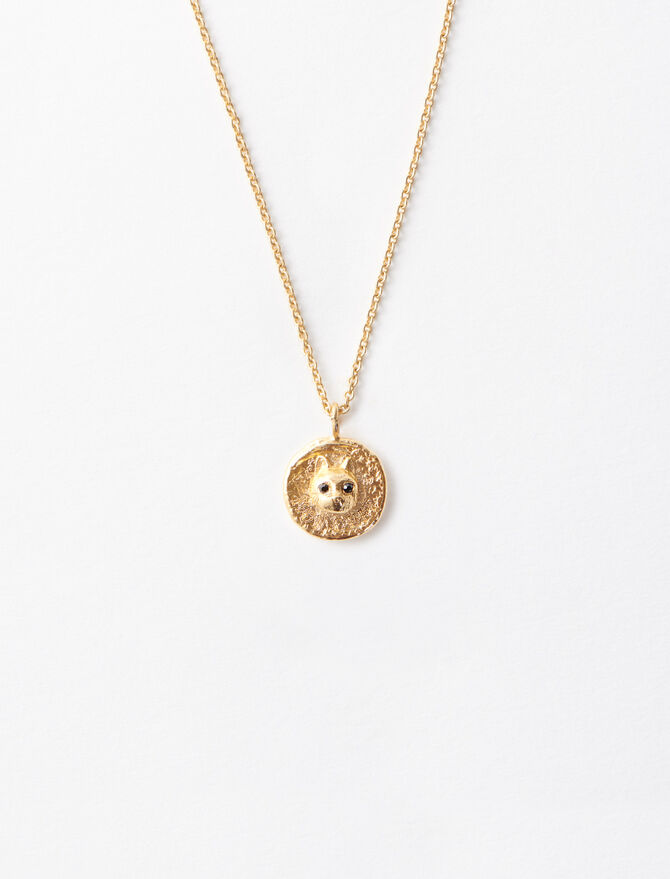 """Mon Chat"" gold-plated necklace -  - MAJE"