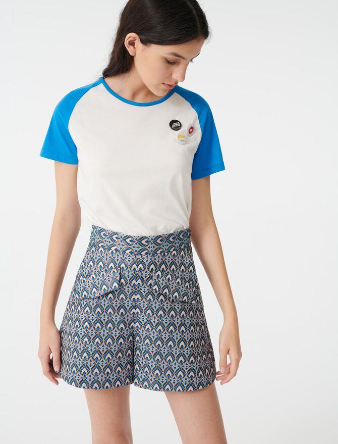 Lurex jacquard shorts - Skirts & Shorts - MAJE