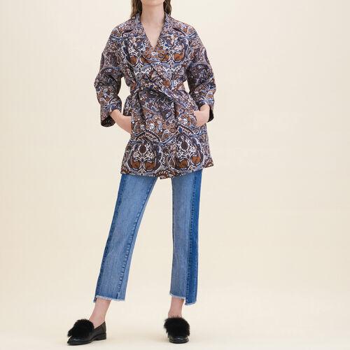 Long jacquard jacket : Jackets & Blazers color Jacquard