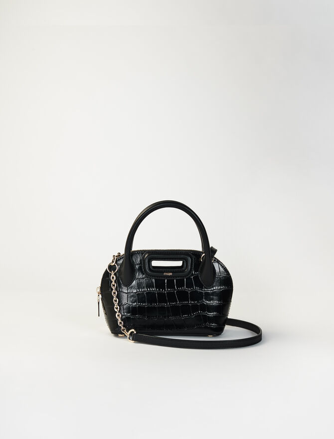 Small crocodile-effect leather bag -  - MAJE