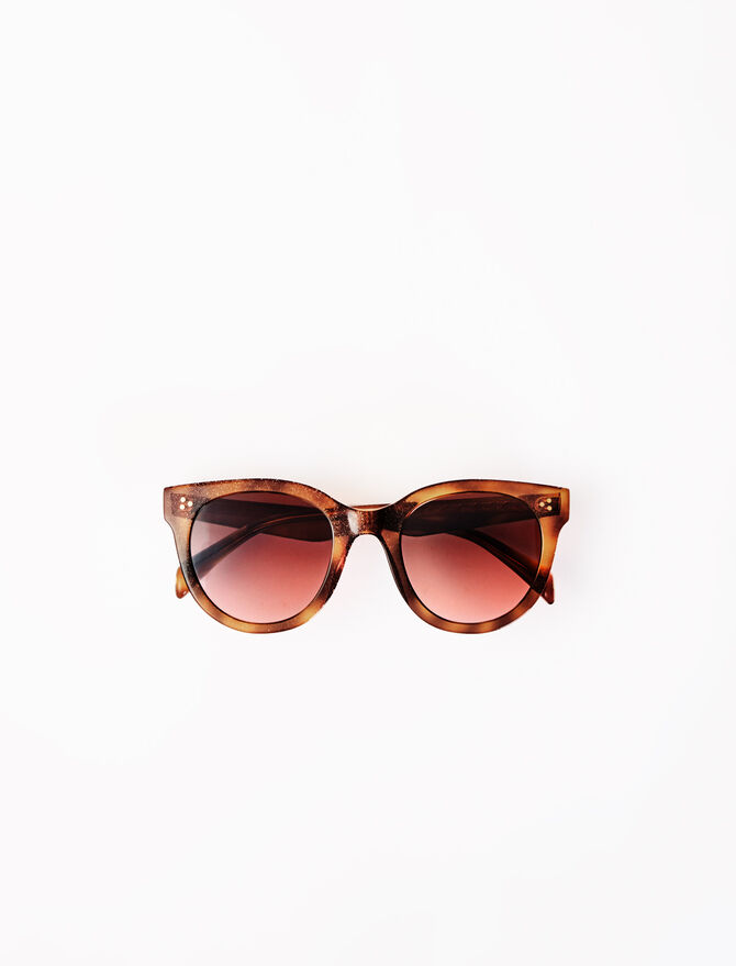 Round acetate sunglasses -  - MAJE