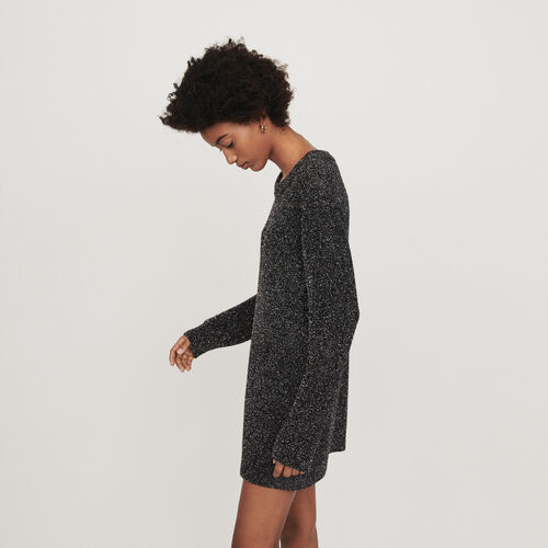 Lurex knit dress : Dresses color Silver