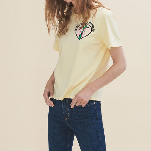 Embroidered T-shirt Wednesday : T-shirts color Yellow