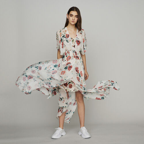 Scarf dress in printed chiffon : New in : Summer Collection color PRINTED