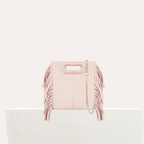 M mini-bag with chain : Summer collection color Nude