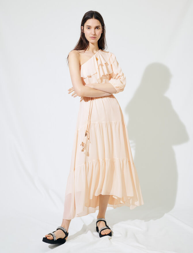 Asymmetrical muslin dress - Dresses - MAJE