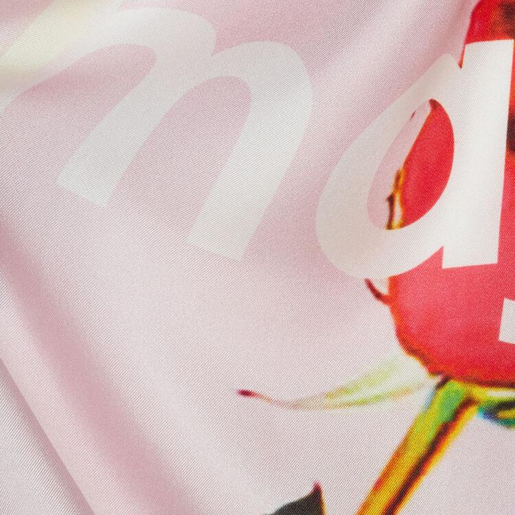 Silk square scarf : Shawls & Ponchos color Pink