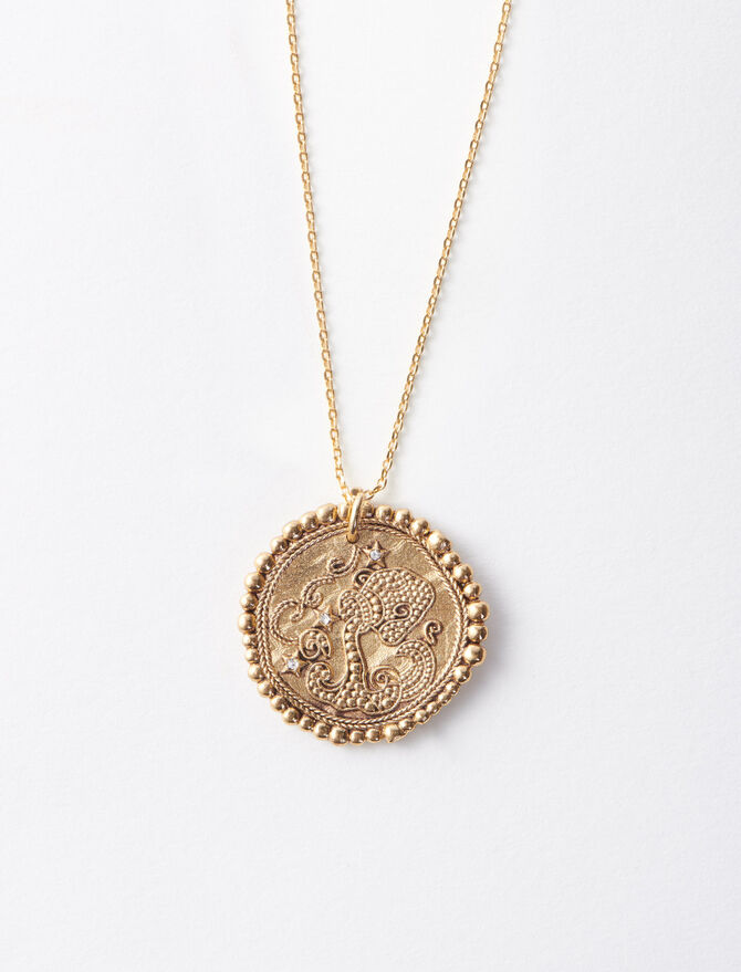Aquarian zodiac sign necklace -  - MAJE
