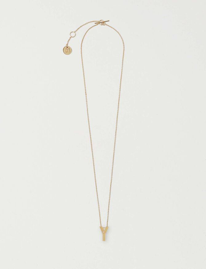 Collier Initiale Y - null - MAJE