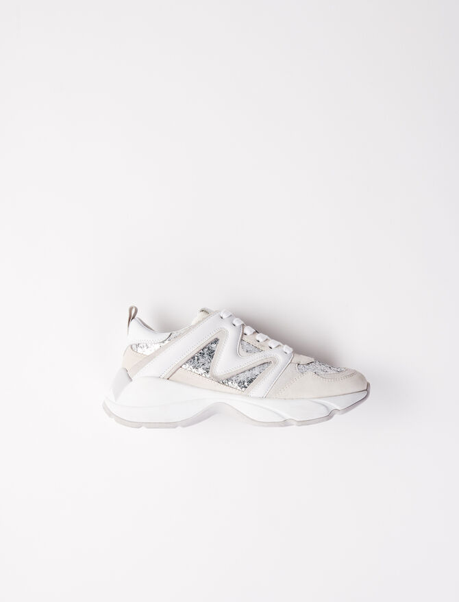 Sneakers W22 pailletées - Chaussures_Sneakers - MAJE