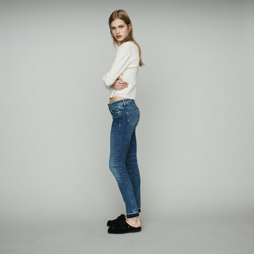 Slim jeans in stretch cotton : Jeans color Denim