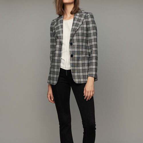 Plaid suit jacket : Blazers color CARREAUX