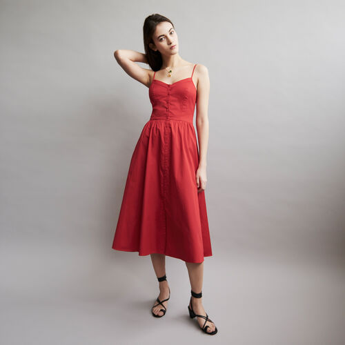 Maxi dress with crop top : Full Summer color ROUGE