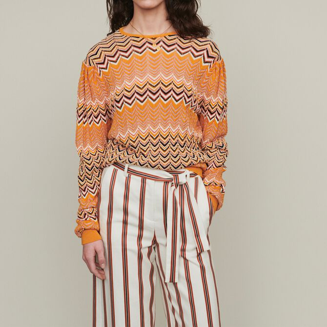 Sweater in zigzag knit - Sweaters & Cardigans - MAJE