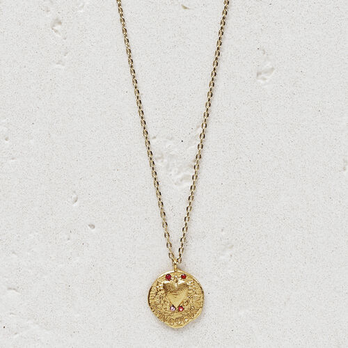 "Necklace with medallion ""Mon coeur"" : Jewelry color GOLD"