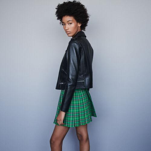 Leather biker jacket : Coats & Jackets color Black