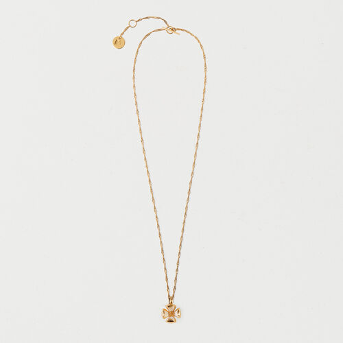 Necklace with small closed flower : Summer Collection color GOLD