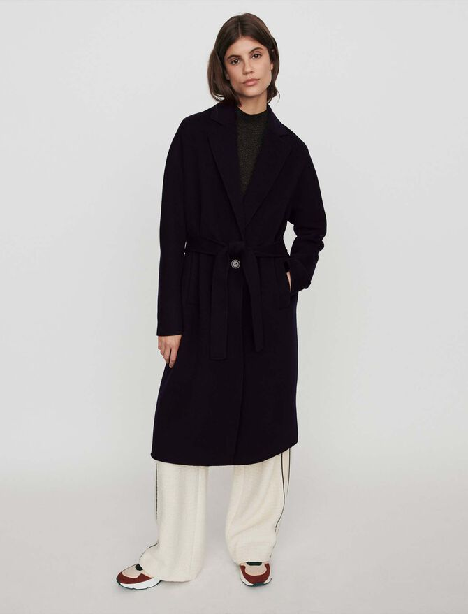 Belted double face coat - Jackets & Blazers - MAJE