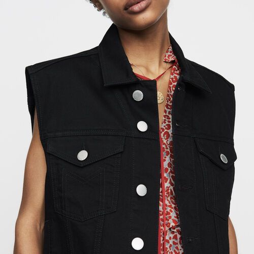 Denim vest : Jackets color Black 210