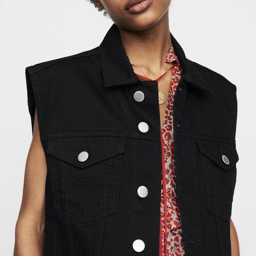 Denim vest : New Collection color Black 210