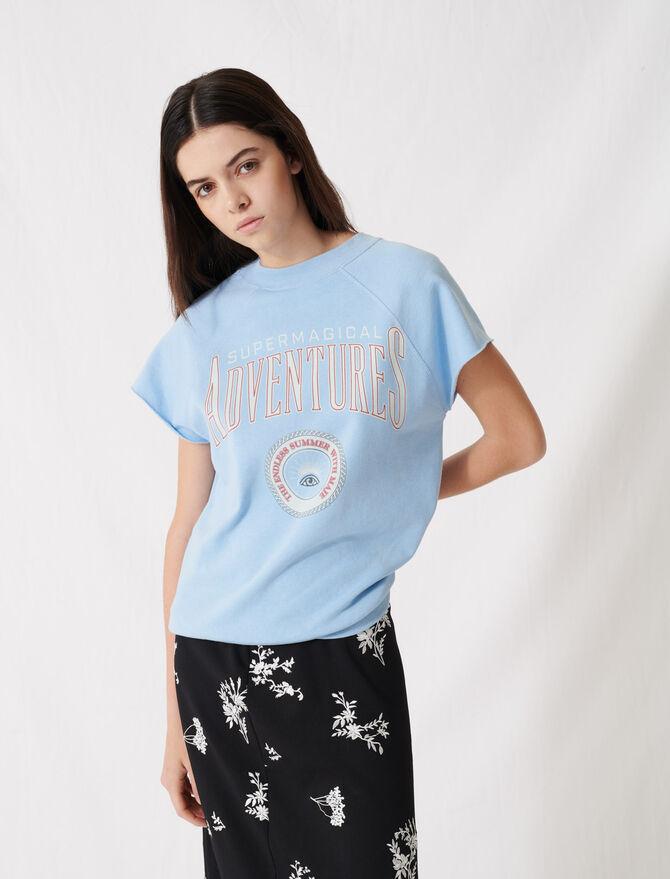 Sweat-shirt bord franc sérigraphié - Pap_Tshirts - MAJE
