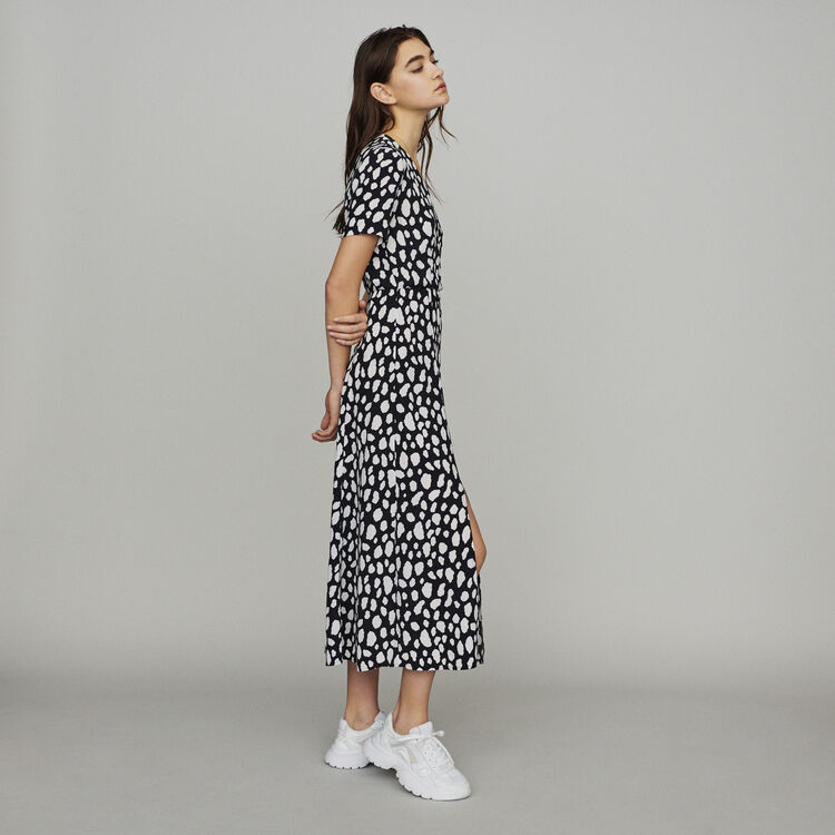 Long printed dress : Dresses color Printed