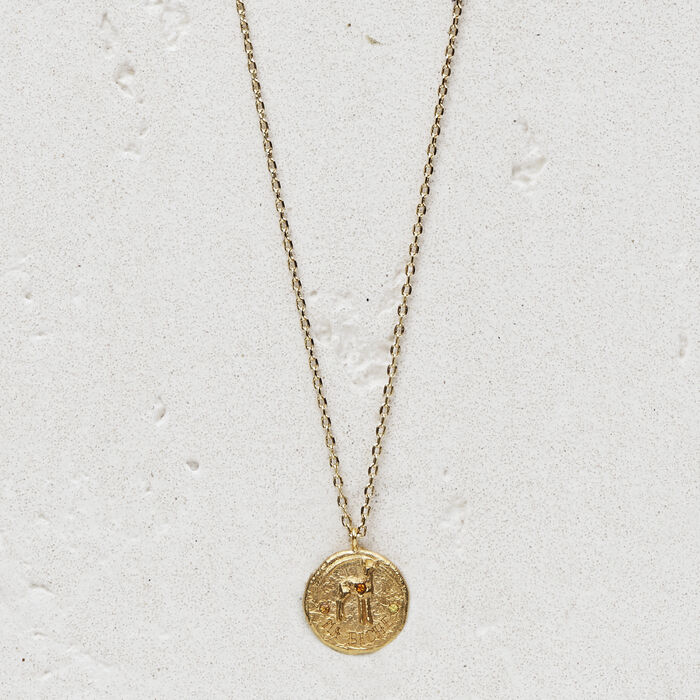 """Necklace with medallion """"Ma biche"""" : Jewelry color GOLD"""