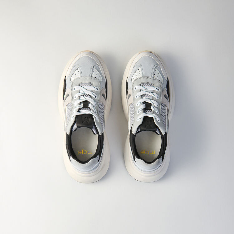 W20 leather city sneakers : Sneakers color Grey