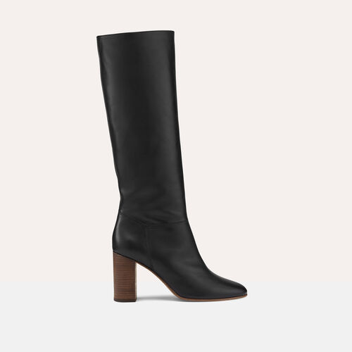 Smooth leather boots : Shoes color Black 210