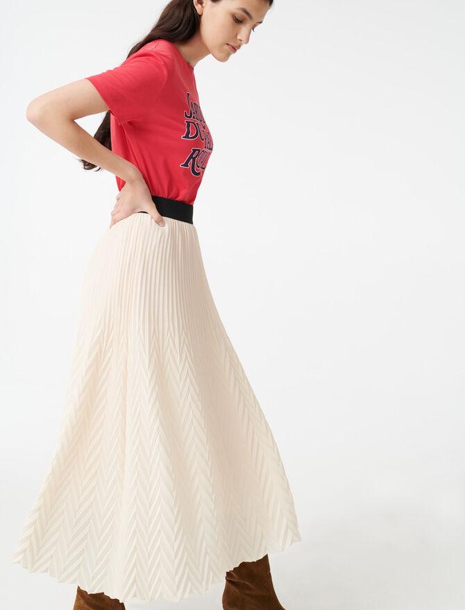 Jupe plissée géométrique - Pap_Jupes-Shorts - MAJE