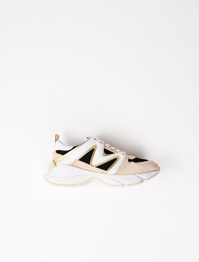 W22 material mix trainers -  - MAJE