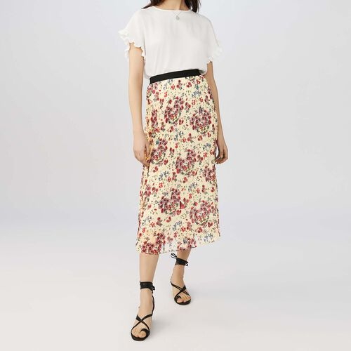 Long pleated skirt : Skirts & Shorts color PRINTED